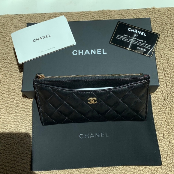1365f7115639 CHANEL Bags | Nwt Classic Flat Zipped Wallet Pouch | Poshmark